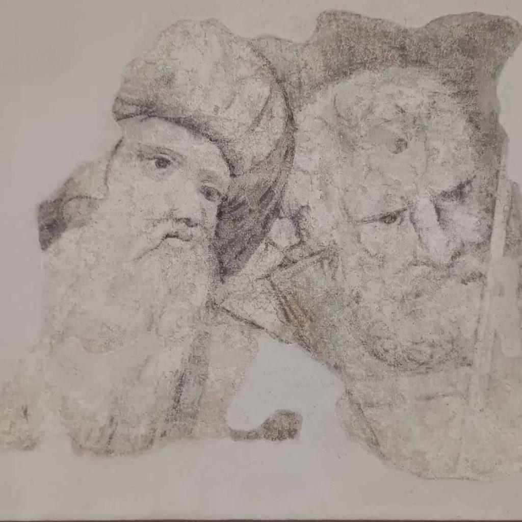 """Particolare de """"I filosofi"""" del Bramante"""