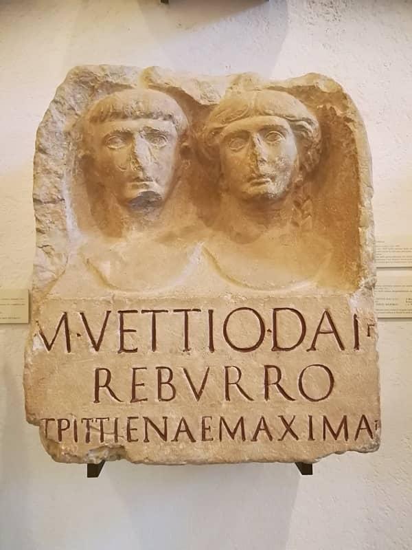 Epigrafe funeraria Civico Museo Archeologico